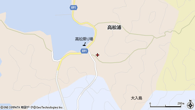 大分県佐伯市高松浦567周辺の地図