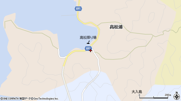 大分県佐伯市高松浦183周辺の地図