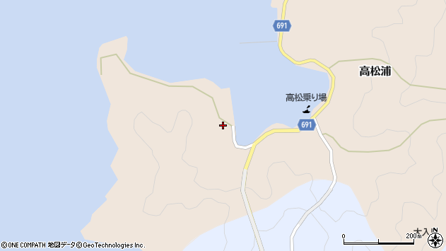 大分県佐伯市高松浦101周辺の地図
