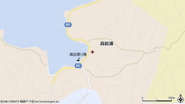 大分県佐伯市高松浦590周辺の地図