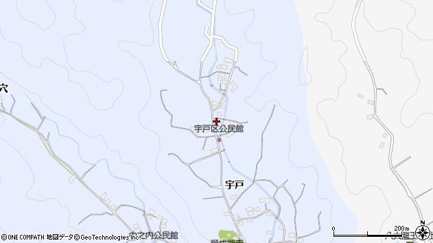 大分県佐伯市戸穴2172周辺の地図