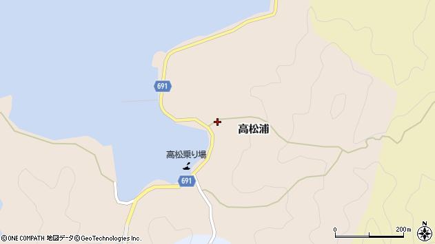 大分県佐伯市高松浦607周辺の地図