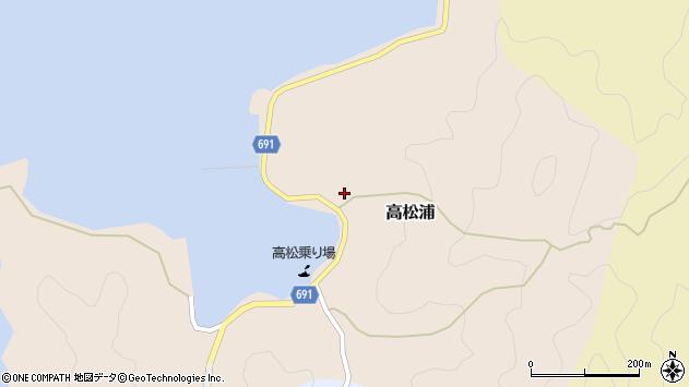 大分県佐伯市高松浦673周辺の地図