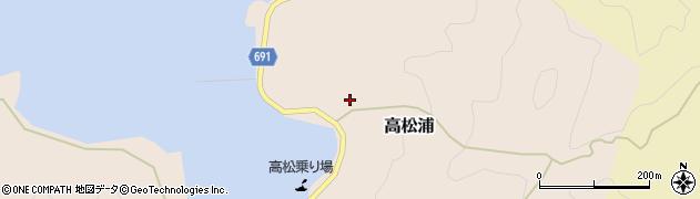大分県佐伯市高松浦周辺の地図