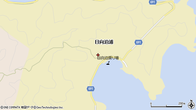 大分県佐伯市日向泊浦174周辺の地図