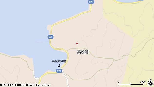 大分県佐伯市高松浦668周辺の地図