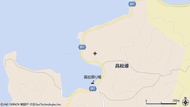 大分県佐伯市高松浦747周辺の地図