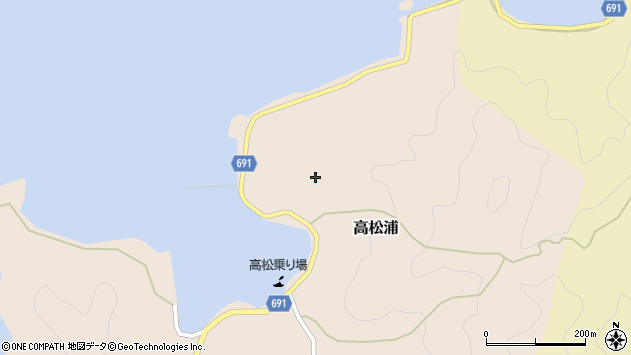 大分県佐伯市高松浦693周辺の地図