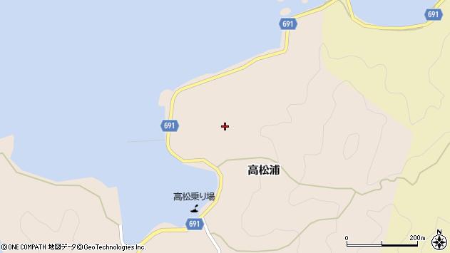 大分県佐伯市高松浦704周辺の地図