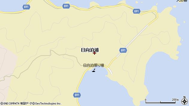 大分県佐伯市日向泊浦205周辺の地図