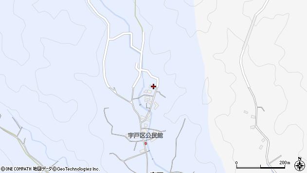 大分県佐伯市戸穴2654周辺の地図