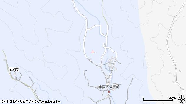 大分県佐伯市戸穴宇戸区周辺の地図