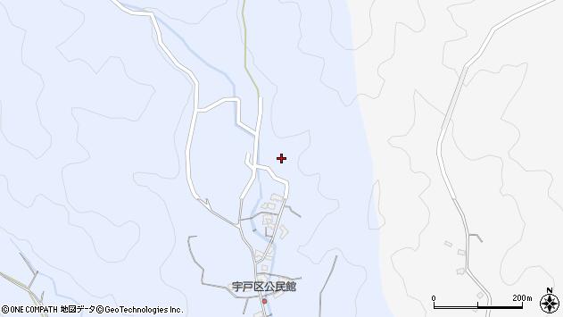 大分県佐伯市戸穴2641周辺の地図