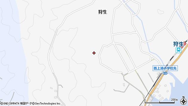 大分県佐伯市狩生240周辺の地図