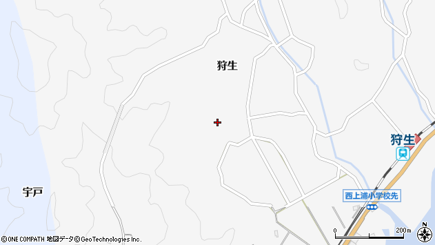 大分県佐伯市狩生313周辺の地図