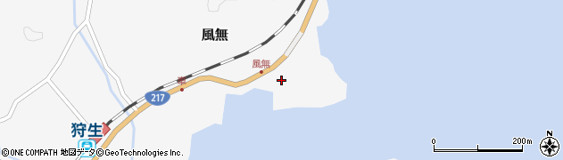 大分県佐伯市護江風無周辺の地図