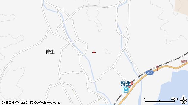 大分県佐伯市狩生1433周辺の地図