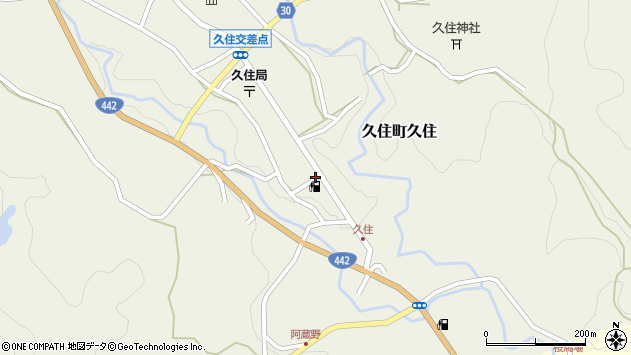 大分県竹田市久住町大字久住6101周辺の地図