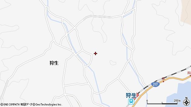 大分県佐伯市狩生1425周辺の地図