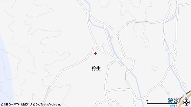大分県佐伯市狩生727周辺の地図