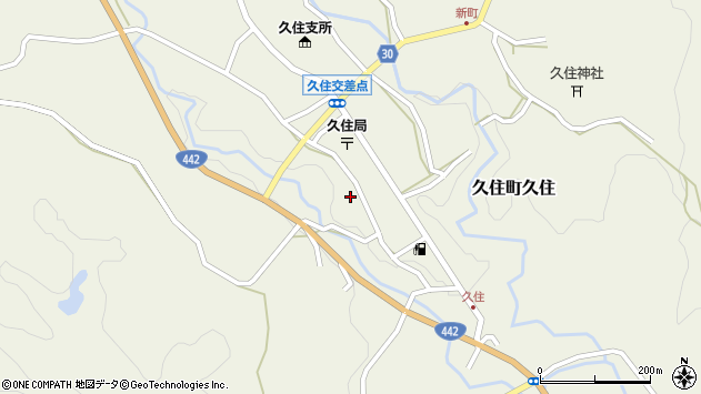 大分県竹田市久住町大字久住6132周辺の地図