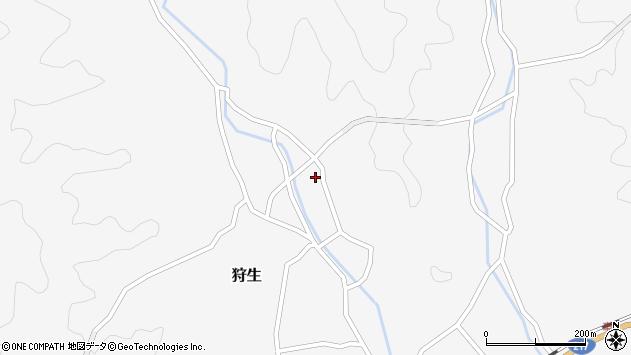 大分県佐伯市狩生1373周辺の地図