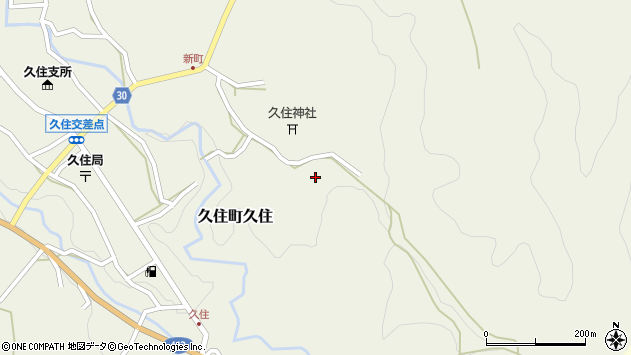 大分県竹田市久住町大字久住6517周辺の地図