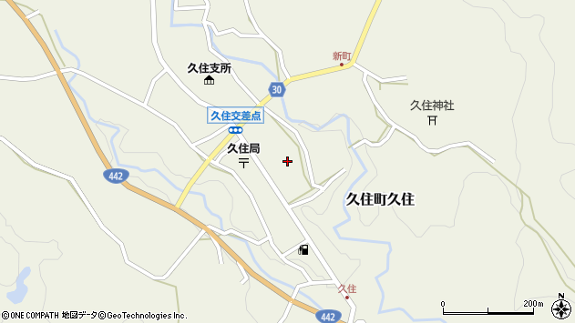 大分県竹田市久住町大字久住6181周辺の地図