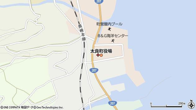 佐賀県藤津郡太良町周辺の地図