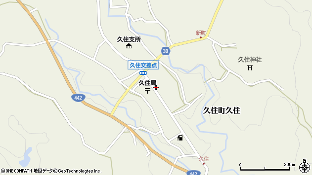大分県竹田市久住町大字久住6174周辺の地図