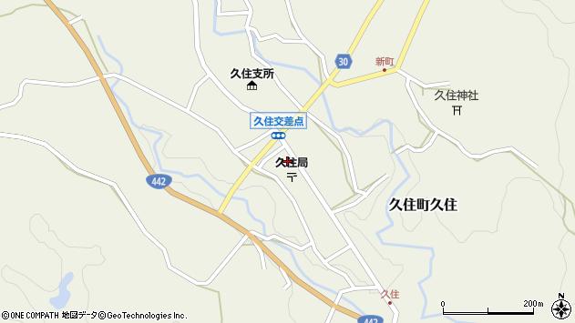 大分県竹田市久住町大字久住周辺の地図