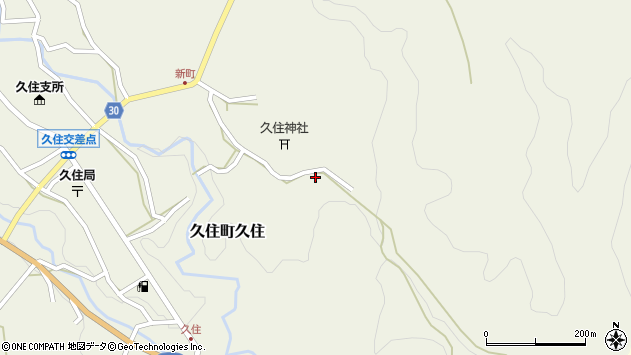 大分県竹田市久住町大字久住6615周辺の地図