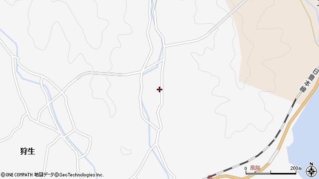 大分県佐伯市狩生1852周辺の地図