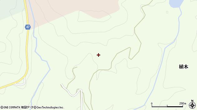 大分県竹田市植木小高野周辺の地図