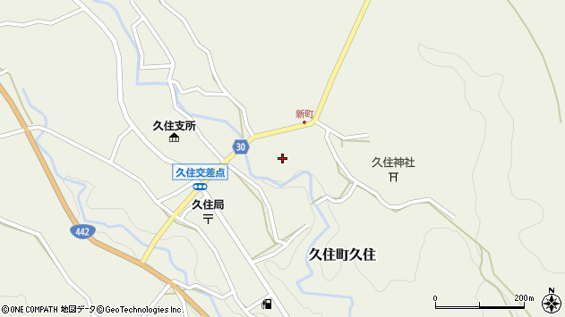 大分県竹田市久住町大字久住6285周辺の地図