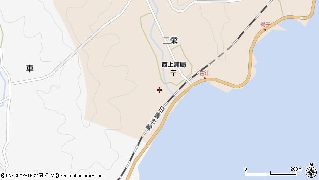 大分県佐伯市二栄1220周辺の地図