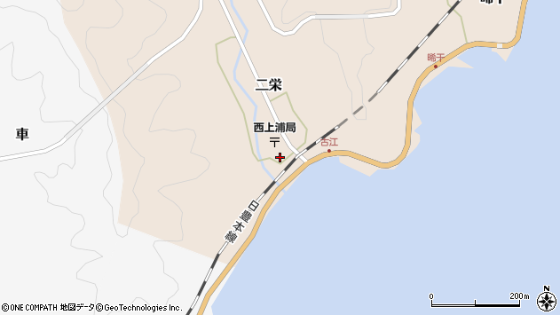 大分県佐伯市二栄1163周辺の地図