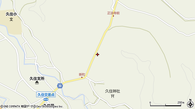大分県竹田市久住町大字久住6444周辺の地図
