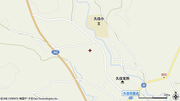 大分県竹田市久住町大字久住3471周辺の地図