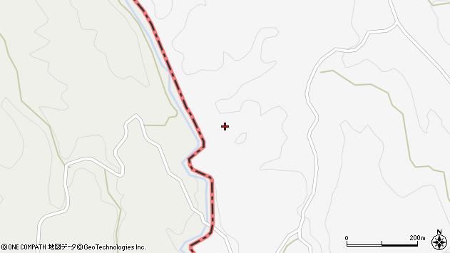 大分県竹田市久住町大字白丹後山周辺の地図
