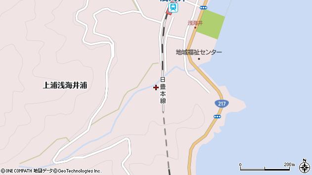 大分県佐伯市上浦大字浅海井浦2168周辺の地図