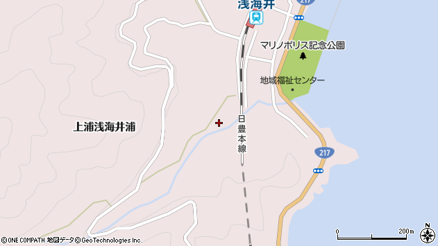 大分県佐伯市上浦大字浅海井浦1791周辺の地図