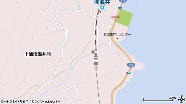 大分県佐伯市上浦大字浅海井浦2161周辺の地図