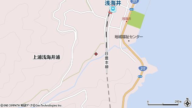 大分県佐伯市上浦大字浅海井浦792周辺の地図