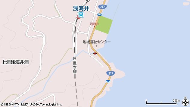 大分県佐伯市上浦大字浅海井浦2312周辺の地図