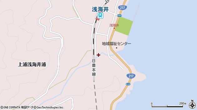 大分県佐伯市上浦大字浅海井浦1805周辺の地図