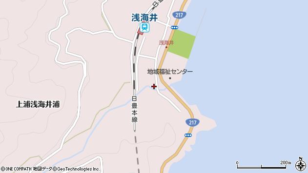 大分県佐伯市上浦大字浅海井浦538周辺の地図