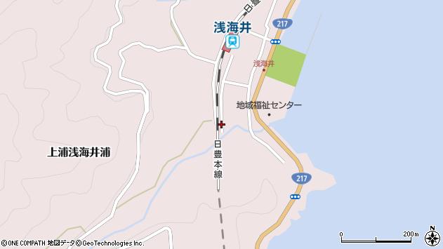 大分県佐伯市上浦大字浅海井浦540周辺の地図