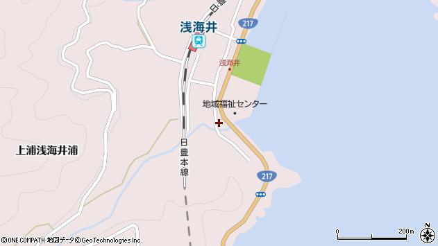 大分県佐伯市上浦大字浅海井浦535周辺の地図