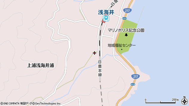 大分県佐伯市上浦大字浅海井浦569周辺の地図